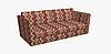Декоративная ткань пэчворк бордового и оранжевого цвета 180см 84495v2, фото 4