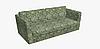 Декоративная ткань зеленые пальмовые листья на белом Турция 84492v2, фото 3