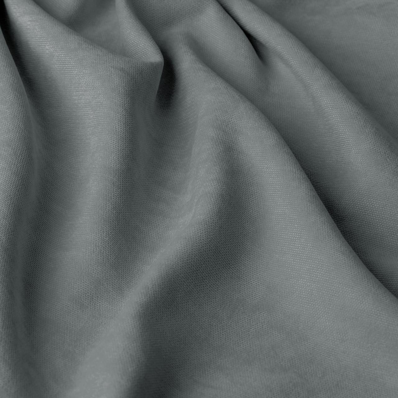 Однотонная декоративная ткань велюр серого цвета 295см 84441v51