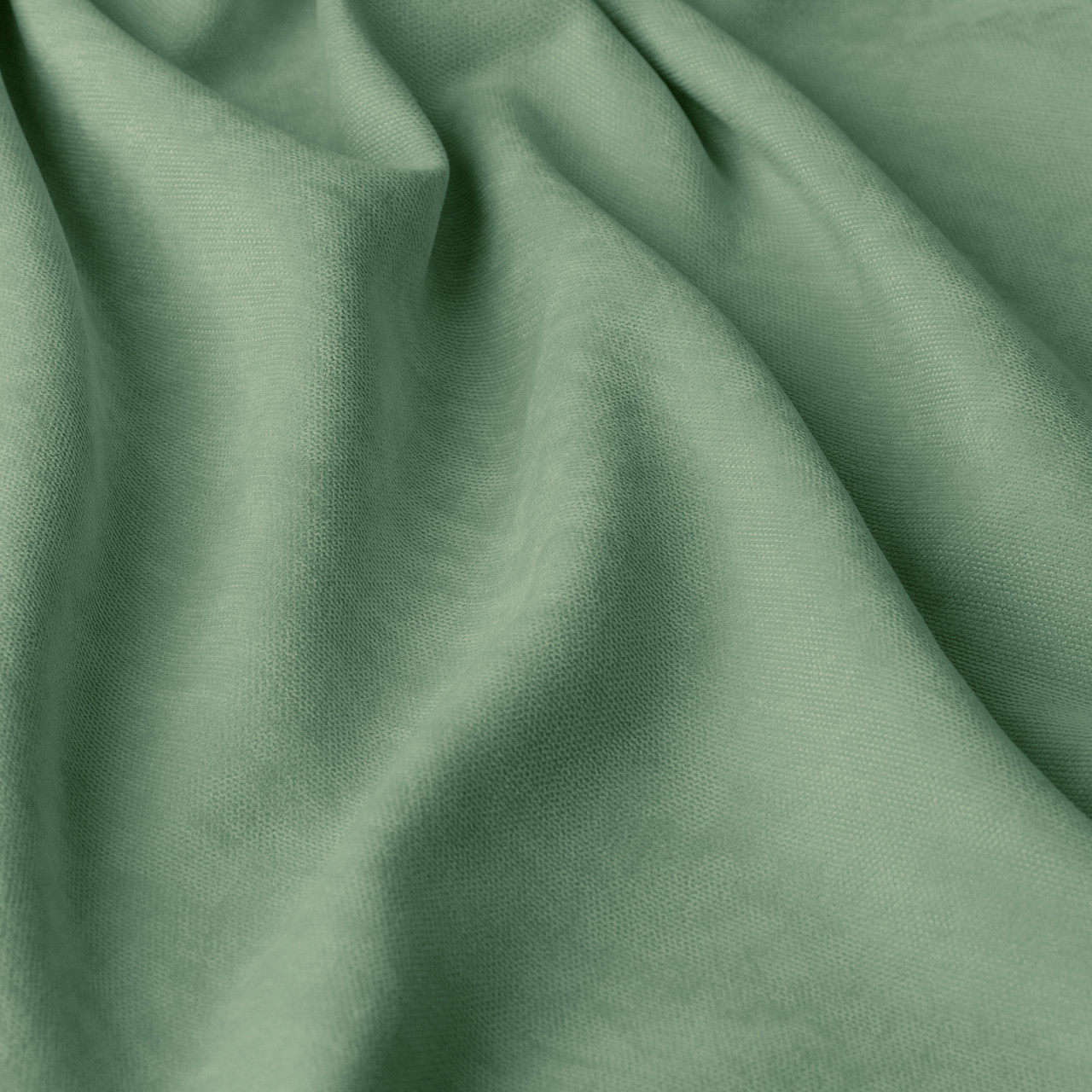 Однотонная декоративная ткань велюр салатного цвета Турция 84439v49
