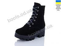"""Ботинки демисезонные женские """"Ailinda"""" #816-01K. р-р 36-40. Цвет черный. Оптом"""
