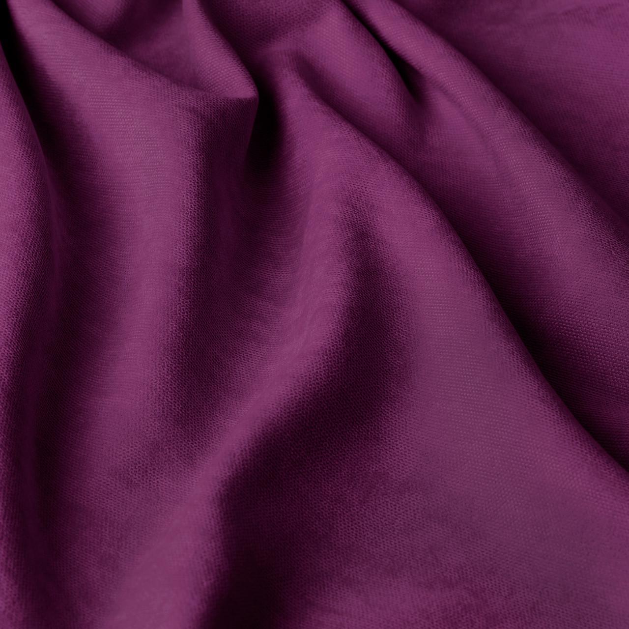 Однотонная декоративная ткань велюр фиолетового цвета 84435v44