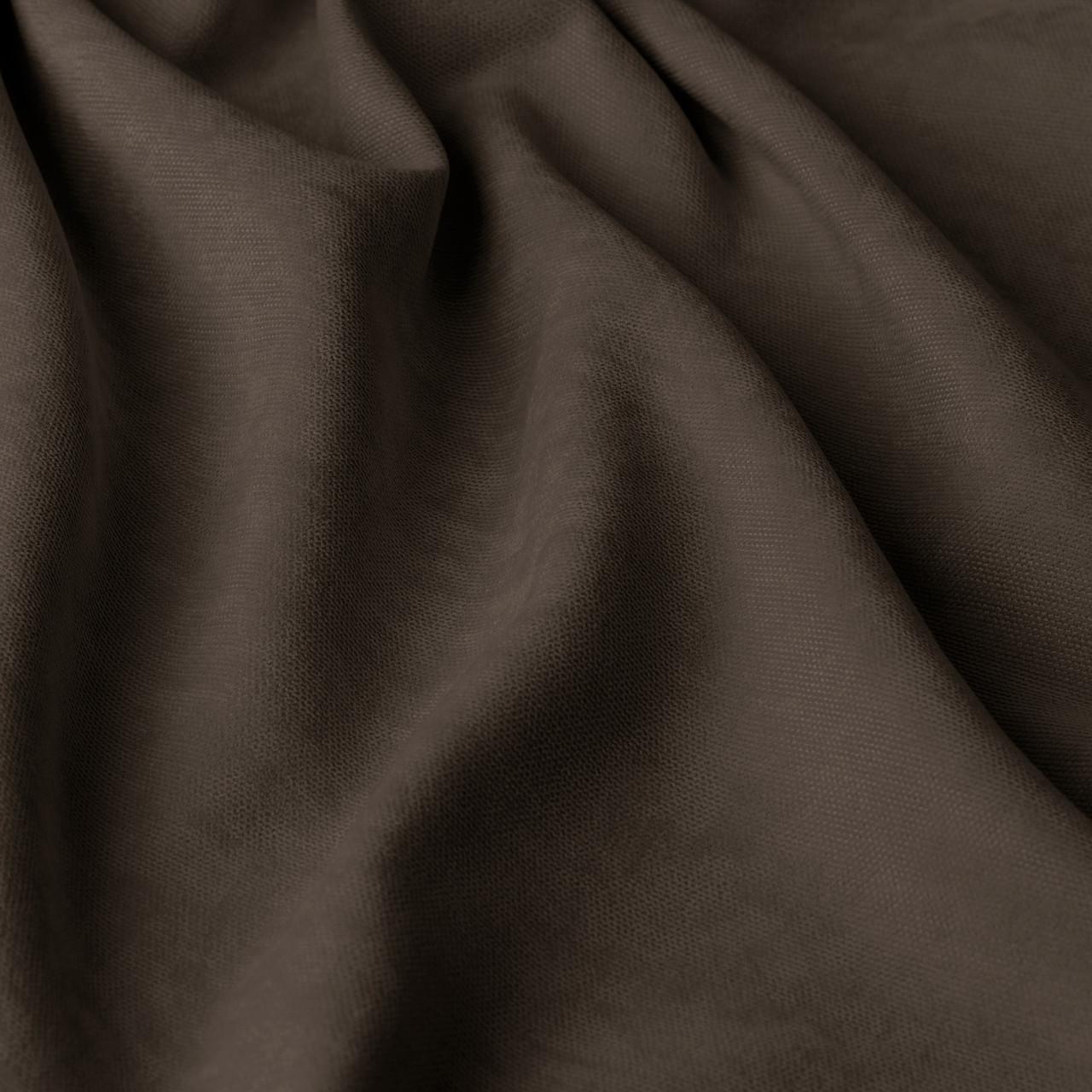 Однотонная декоративная ткань велюр темно-коричневого цвета 295см 84430v40