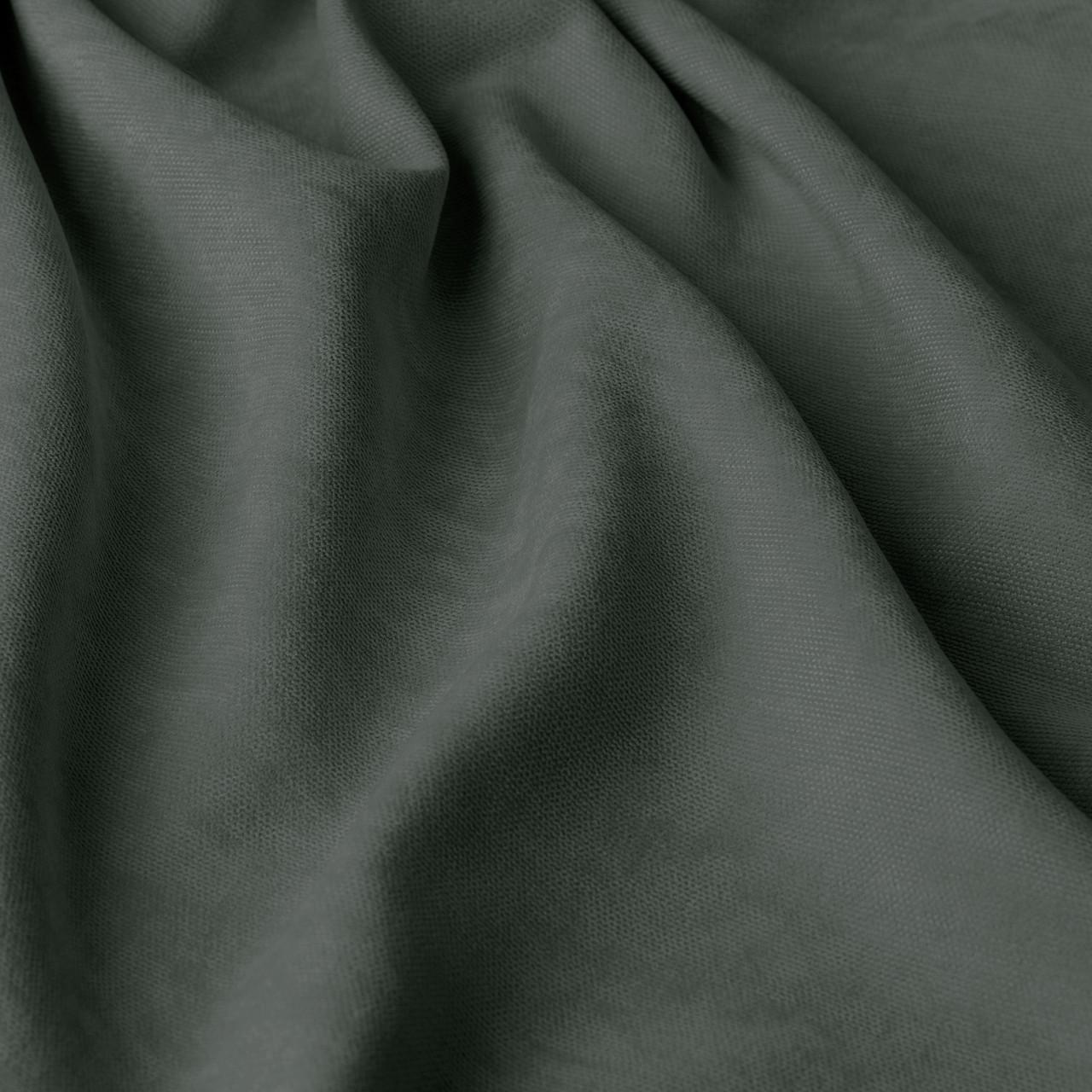Однотонная декоративная ткань велюр серого цвета Турция 84429v39