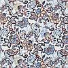 Декоративная ткань с мелким синим цветочным узором на белом Турция 84488v3, фото 2