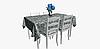 Декоративная ткань с мелким голубым цветочным узором на белом 180см 84487v2, фото 3