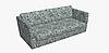 Декоративная ткань с мелким голубым цветочным узором на белом 180см 84487v2, фото 9