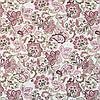 Декоративная ткань с мелким розовым цветочным узором на белом 180см 84486v1, фото 2