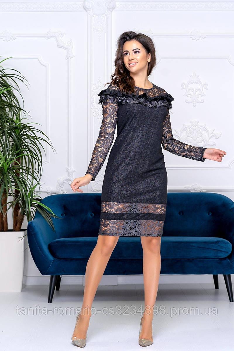 Коктейльное платье 9189e Черный S M L