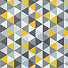 Декоративная ткань с желто-серой мозаикой Турция 84485v2, фото 2