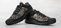 Чоловічі утеплені кросівки з камуфляжній забарвленням (Кб-16зт)