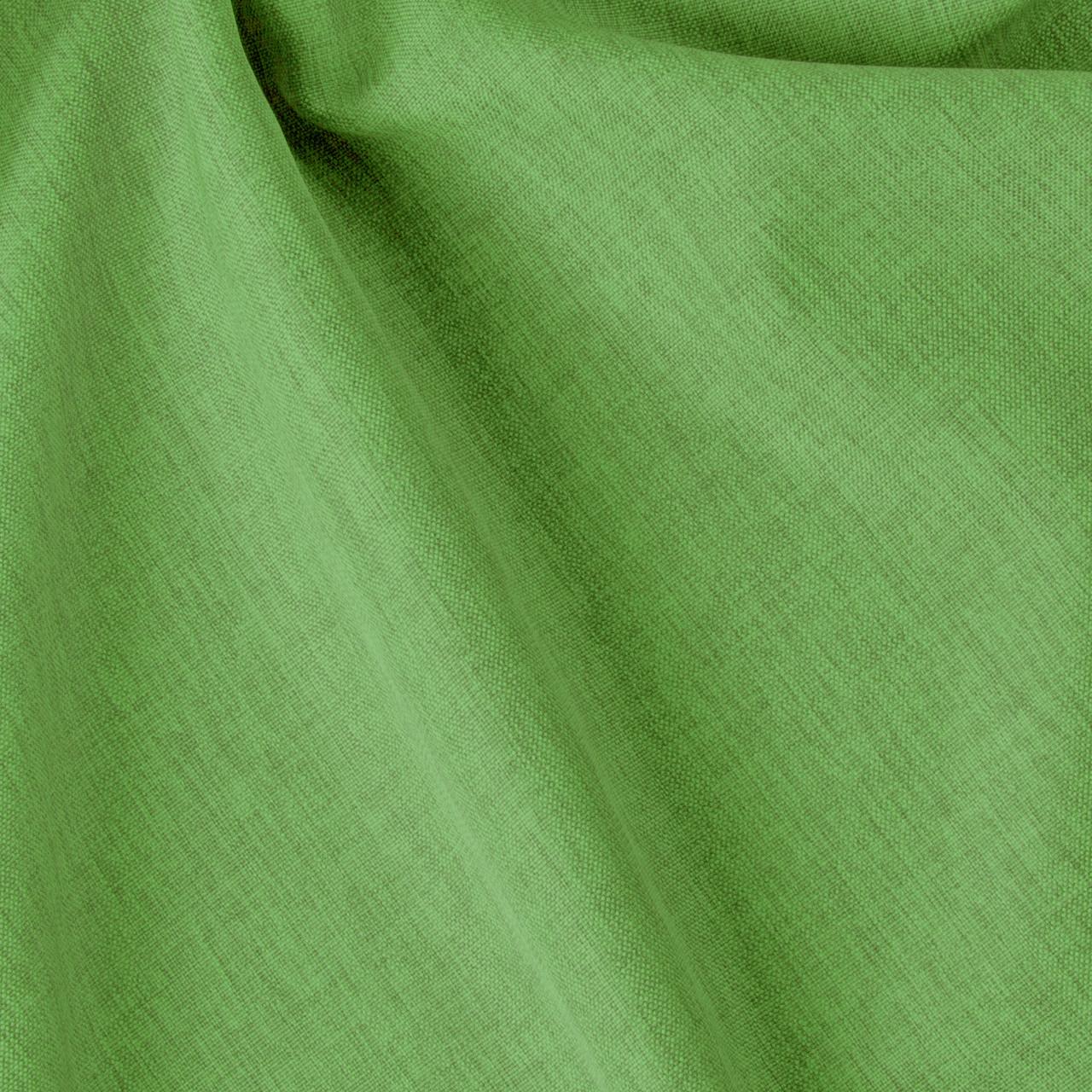 Декоративная однотонная рогожка зеленая 300см 84471v26