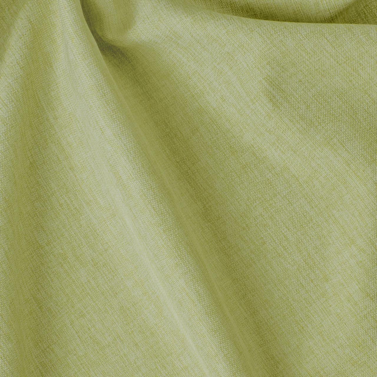 Декоративная однотонная ткань салатного цвета для штор 84472v27