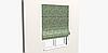 Декоративная ткань мелкие цветы на зеленом фоне 84341v2, фото 3