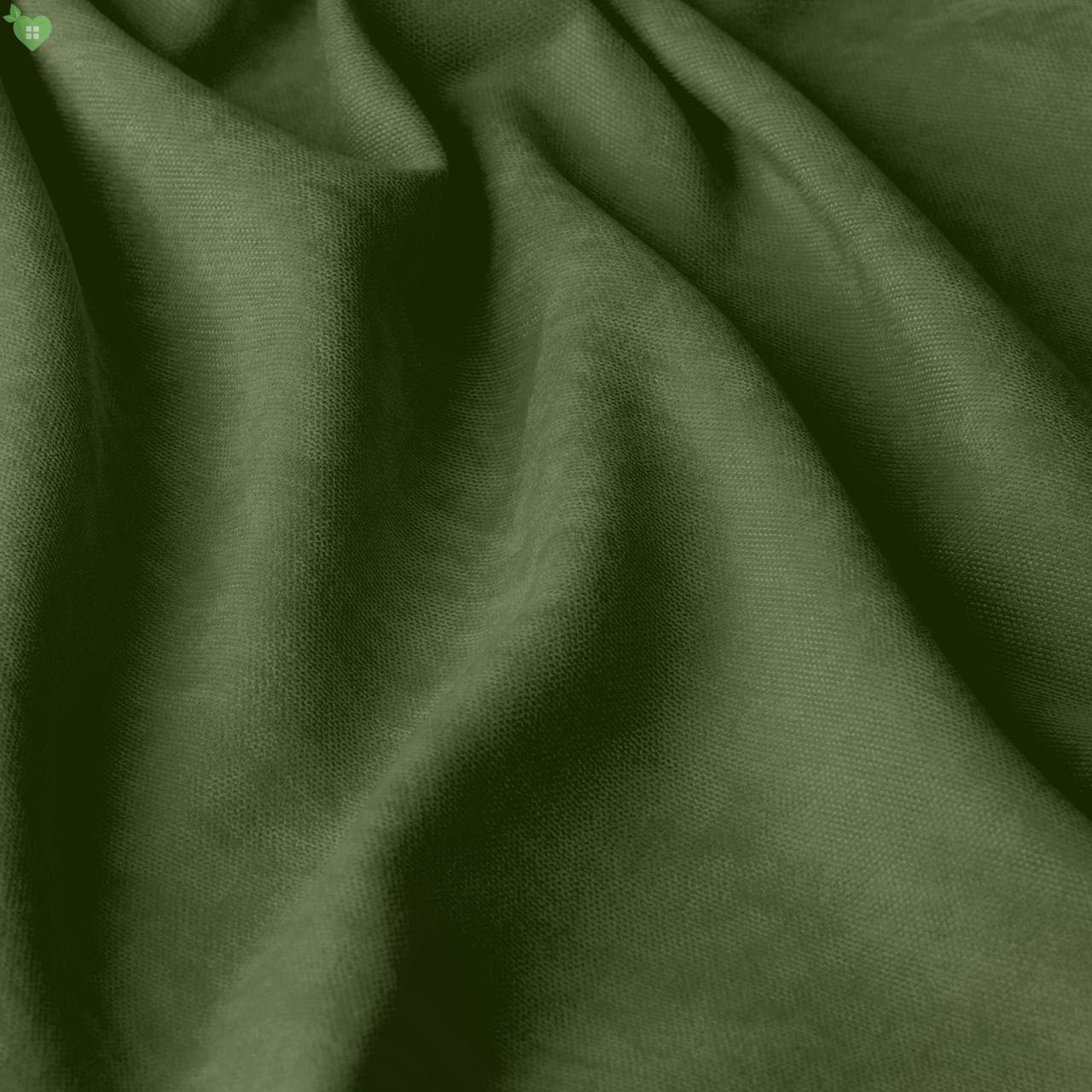 Однотонная декоративная ткань велюр зеленый Турция 84370v24