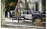 Набір садових меблів Orlando 3 Seater Set Graphite ( графіт ) з штучного ротанга ( Allibert by Keter ), фото 3