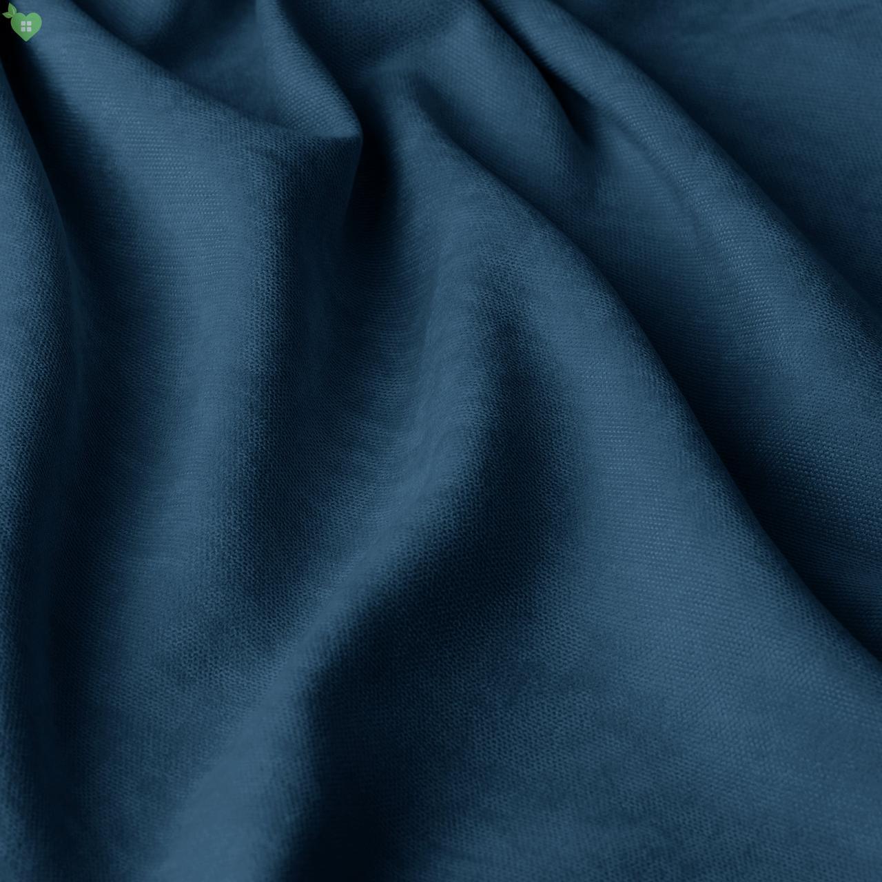 Однотонная декоративная ткань велюр синий 84363v17