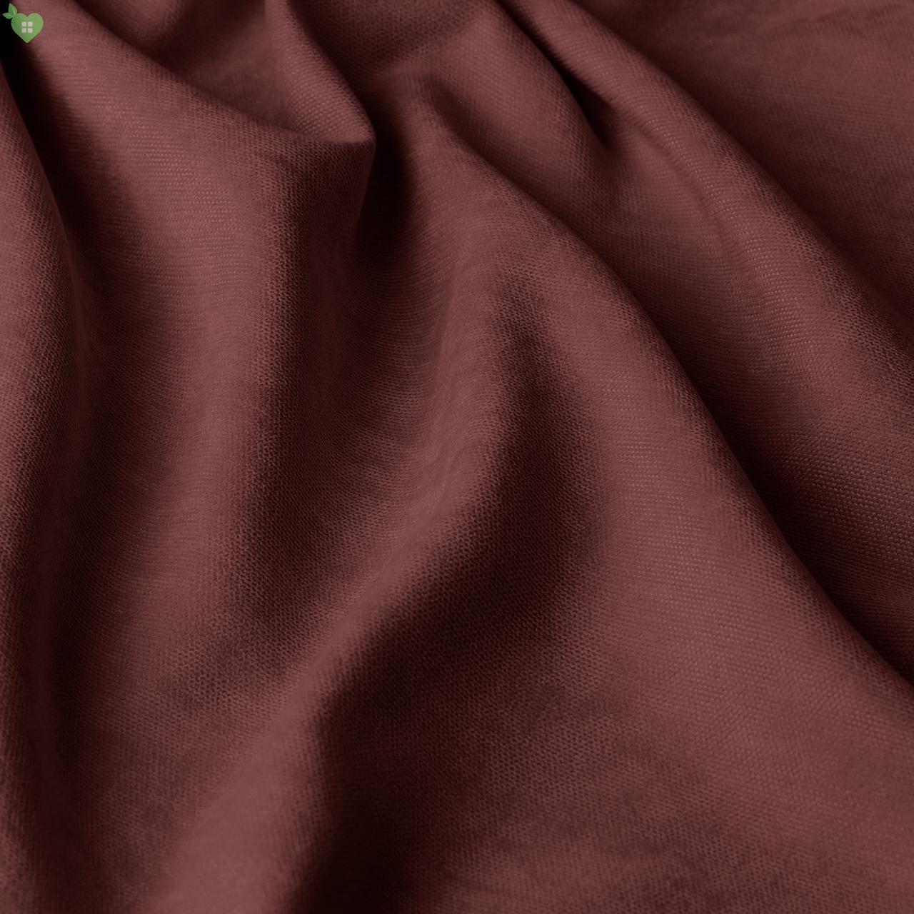Однотонная декоративная ткань велюр бордовый 84361v15