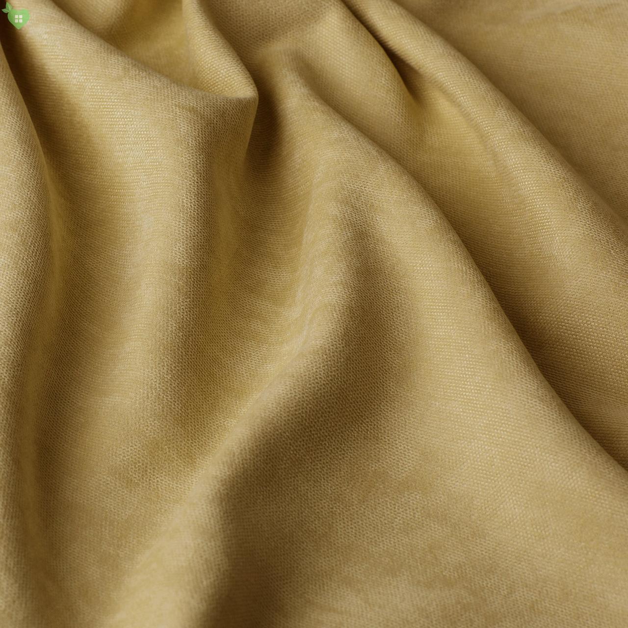 Однотонная декоративная ткань велюр бежевый Турция 84350v4
