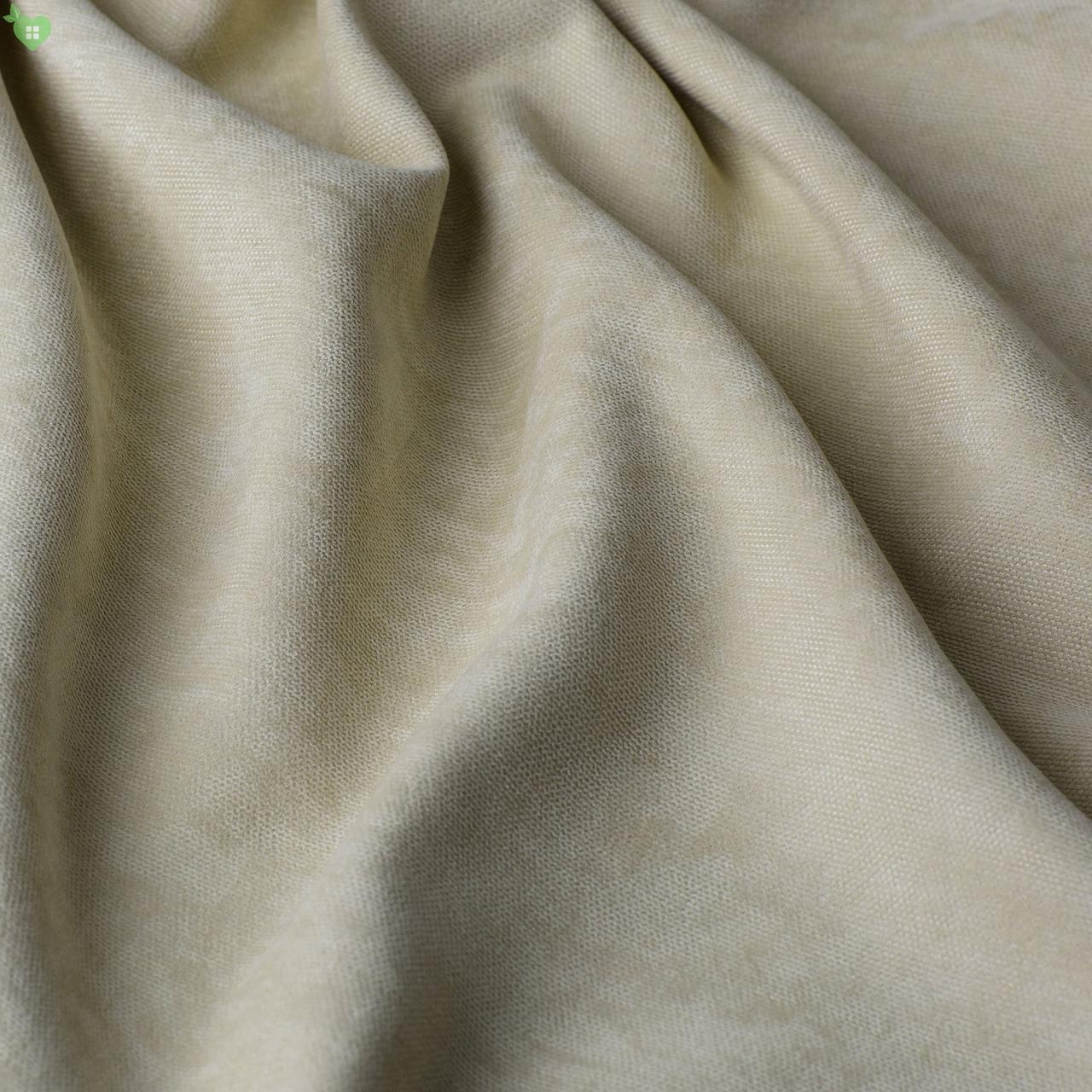 Однотонная декоративная ткань велюр бежевый Турция 84349v2