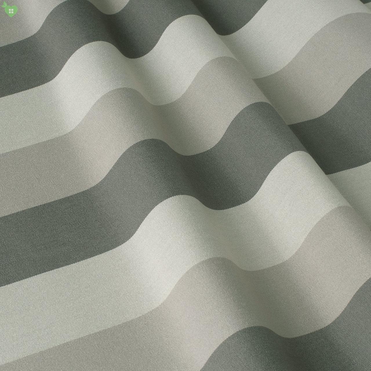 Уличная декоративная ткань в полоску белого черного и серого цвета 84340v4