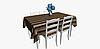 Уличная декоративная ткань в полоску коричневого бежевого и серого цвета 84338v2, фото 5
