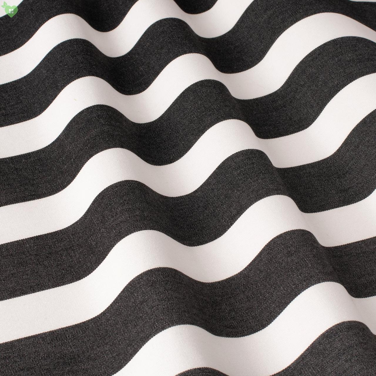 Уличная декоративная ткань полоса черного и белого цвета 84332v5
