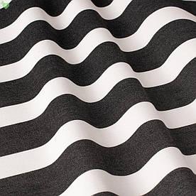 Вулична декоративна тканина смуга чорного і білого кольору 84332v5