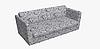 Декоративная ткань с листьями растений голубого и бежевого цвета  84300v2, фото 9