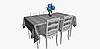Декоративные ткани с серым абстрактным узором 84293v2, фото 5