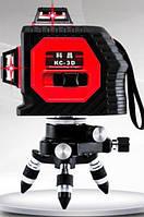 Лазерный 3D нивелир HanSheng (KAITIAN)  HS-301R (3*360) [12 линий]🔴КРАСНЫЙ ЛУЧ