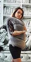 Меховая шуба жилетка Алсу из искусственного эко - меха песца XL,XXL, фото 1