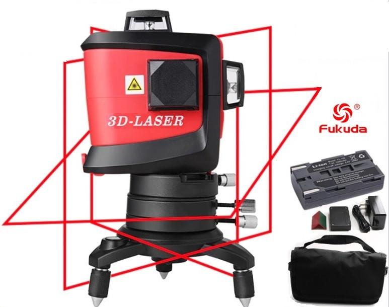 Лазерный нивелир 3D Fukuda MW 93TR ❤Li-ion АККУМУЛЯТОР, ОРИГИНАЛ❤