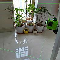 !!!ЗЕЛЁНЫЙ ЛУЧ!!! Лазерный уровень Muli 3D 12 линий
