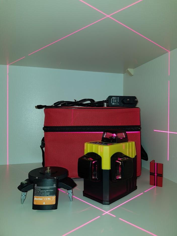 Лазерный 3D нивелир Xeast (Muli) XE-61A 12 линий ПРОТИВОУДАРНАЯ СУМКА+Li-ion В ПОДАРОК!