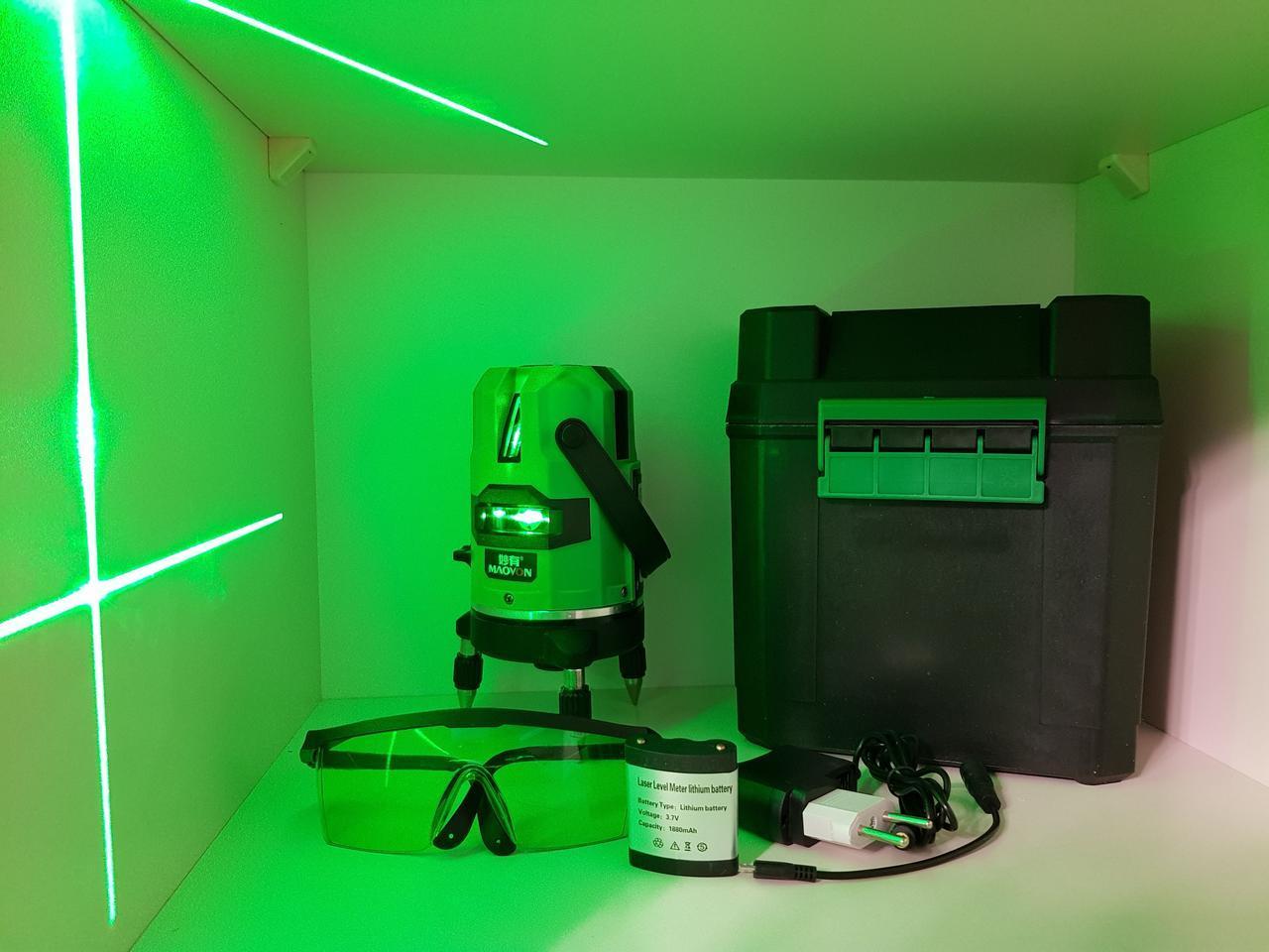 Зеленый луч>50м☀> Лазерный нивелир MAOVON☀В ПОДАРОК LI-ion аккумулятор☀