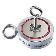 Поисковый двухсторонний магнит НЕПРА 2F400, ✔сила на отрыв 500кг ♕Доставка и ТРОС в подарок♕