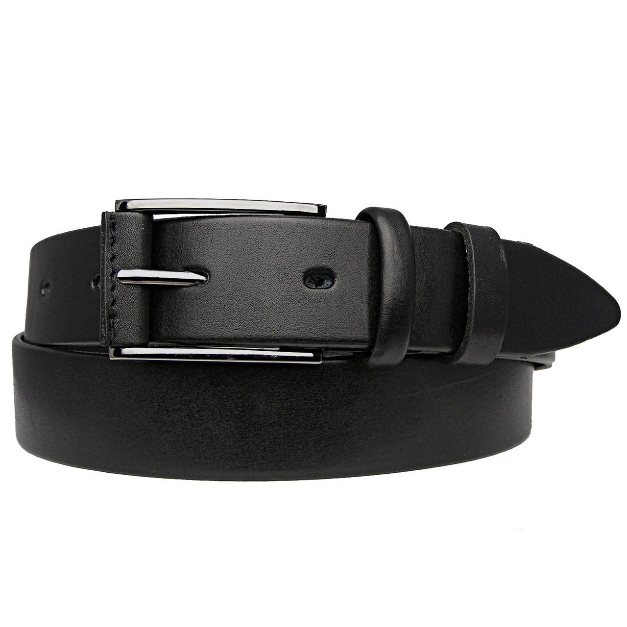 Ремінь чоловічий шкіряний класика чорний JK-3560 (120 см)