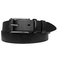 Ремень мужской кожаный JK-3560 black (3,5 см)