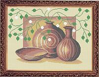 Схема для полной вышивки бисером - Натюрморт из кувшинов, Арт. НБп3-18