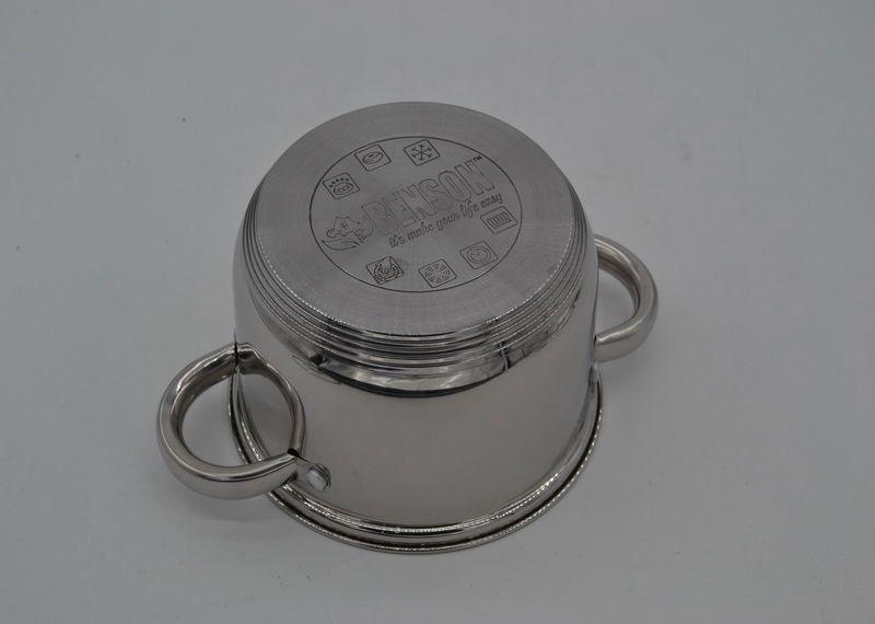 Набор кастрюль из нержавеющей стали 12 предметов + ковш Benson BN-230 (2,1 л, 2,9 л, 3,9 л, 6,5 л)   кастрюля