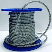 Канат (трос) стальной оцинкованный 6,0 мм ISO 2408