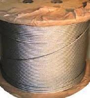 Канат (трос) стальной оцинкованный 5,0 мм ГОСТ 2172-80