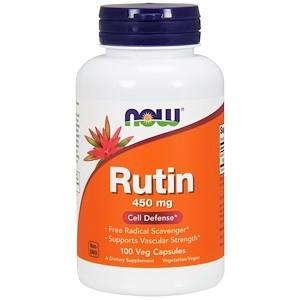 Рутин, Now Foods, 450 мг, 100 растительных капсул