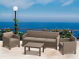 Набір садових меблів Orlando 3 Seater Set Cappuccino ( капучіно ) з штучного ротанга ( Allibert ), фото 6