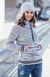 Теплый свитер с карманом Кенгуру