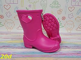 Детские резиновые сапоги непромокаемые розовые
