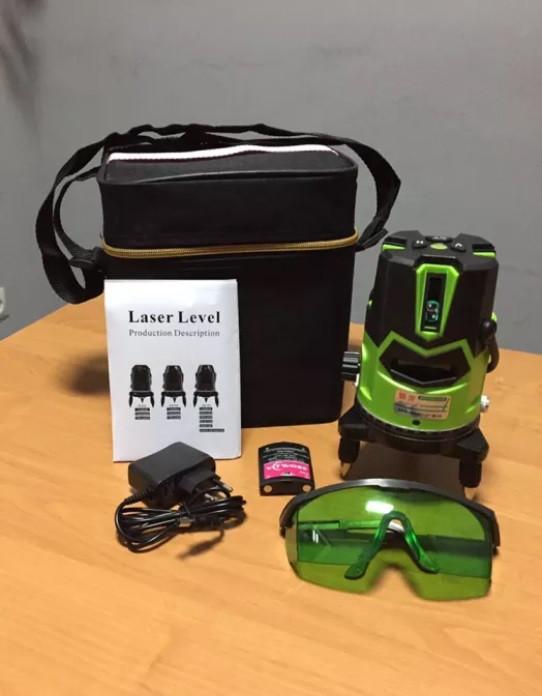 Зеленый луч-50мЛазерный уровень yi long  •5 линий• 6 точек 《Li-ion акумулятор》