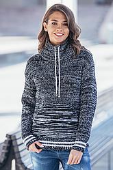 Вязаный свитер с карманом Кенгуру