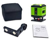 ДЛЯ СТЯЖКИ!! Лазерный уровень Huepar FL-360R красный 5 линий (4H + 1V) 360 градусов,
